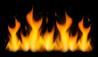 Flammes vectorielles 2