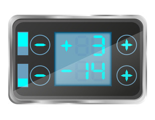 electronic temperature control of the refrigerator vector illust