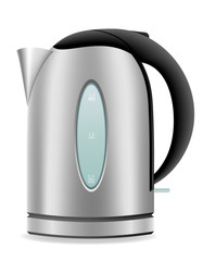 electric kettle vector illustration