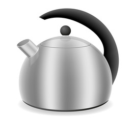 kettle for gas cooker vector illustration