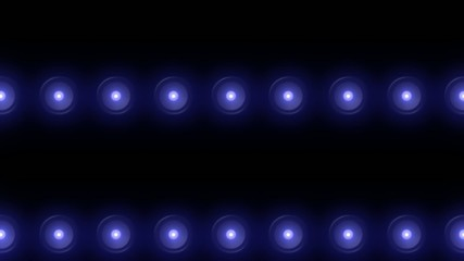 blue floodlights flashing in different variations