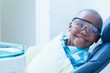 canvas print picture - Smiling boy waiting for dental exam