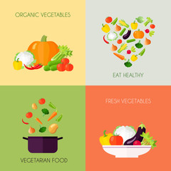 Vegetables Flat Set