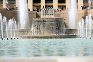 Paris - Fountains at Tracadero.