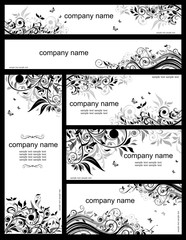 Floral templates (black and whites)