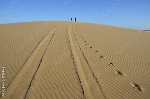 canvas print picture Weg durch die Wüste (bei Walvisbay)