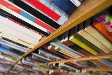 books in book shelf