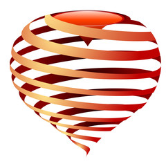 vector striped heart