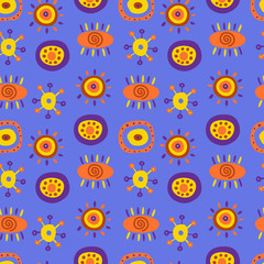 Seamless pattern with cute ethnic patterns