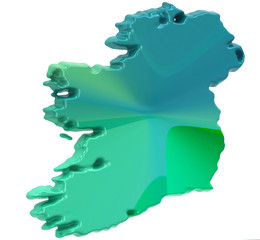 Map of Ireland on a white background