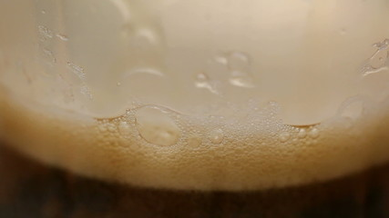 foam of cola