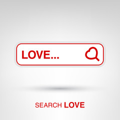 Love search - creative Valentines Day input form