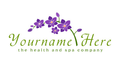 Logo, orchid, flower, spa, beauty, business