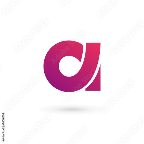 Zdjęcia na płótnie, fototapety, obrazy : Letter A logo icon design template elements