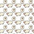 Lamb Hand Drawn Cartoon Seamless