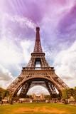 Eiffel Tower. Retro filtered tone.