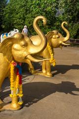 Figures of elephants