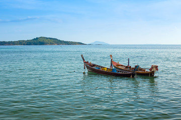 Traditional Thai boats in the Andaman Sea
