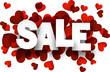 Paper sale love sign.