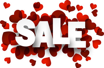Paper sale love sign.