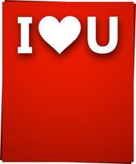 Paper love card.