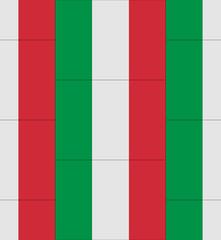 Italy flag texture vector