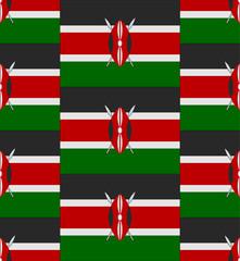 Kenya flag texture vector