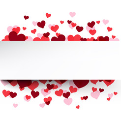 Valentine's background with pink hearts.