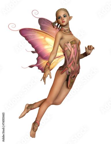 Zdjęcia na płótnie, fototapety, obrazy : Floating Pink Fairy, 3d CG CA