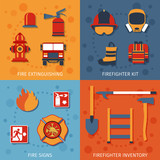 Firefighter Flat Set