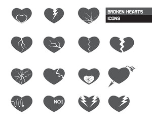 Broken Hearts Icons