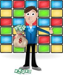 showman. man with money
