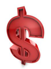 Huge Red USA Dollar Symbol