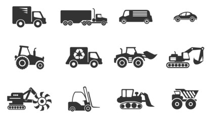 Symbols of Transportation & Loading Machines