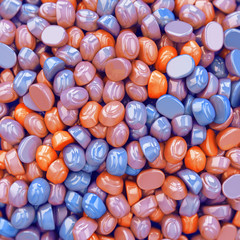 Colored bonbons candy in pile
