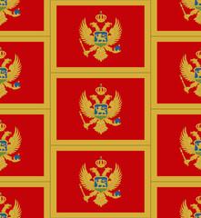 Montenegro flag texture vector