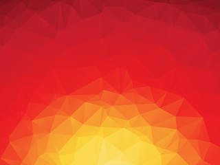 abstract triangular red orange yellow background with the sunset