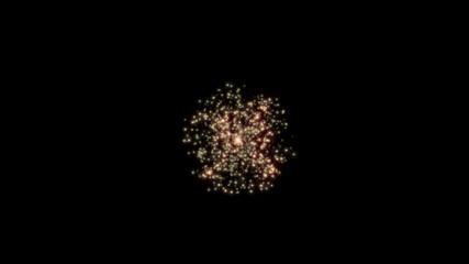 爆発する流れ星