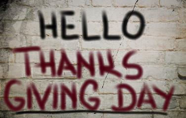 Hello Thanksgiving Day Concept