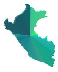 Peru map on a white background