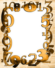 Numbers composition on the grunge background