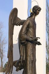Comforting angel -  fragment of  monument, Omsk.Russia