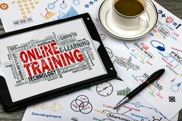 online training word cloud