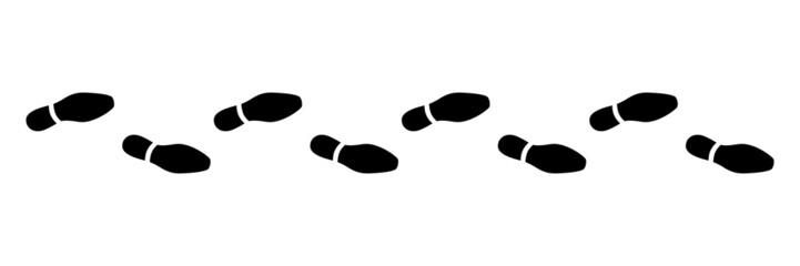 Spur, Schuhabdruck, Businesschuhe, Vektor, schwarz, freigestellt