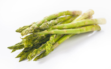 bunch of green asparagus uncooked