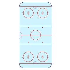 Ice Hockey Rink -  playing field hockey version IIHF