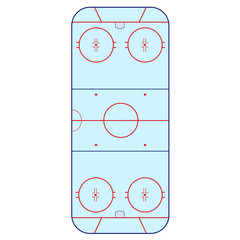 Ice Hockey Rink -  playing field hockey version NHL