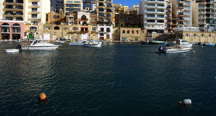 Beautiful morning at Spinola Bay, St Julian's ,  Malta.