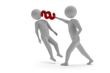 Gesetzeskampf - 3D Strichmännchen