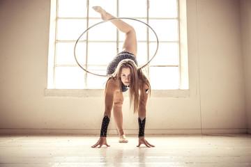 Gymnastic fashion model